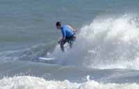 Surfing at Cape Lookout