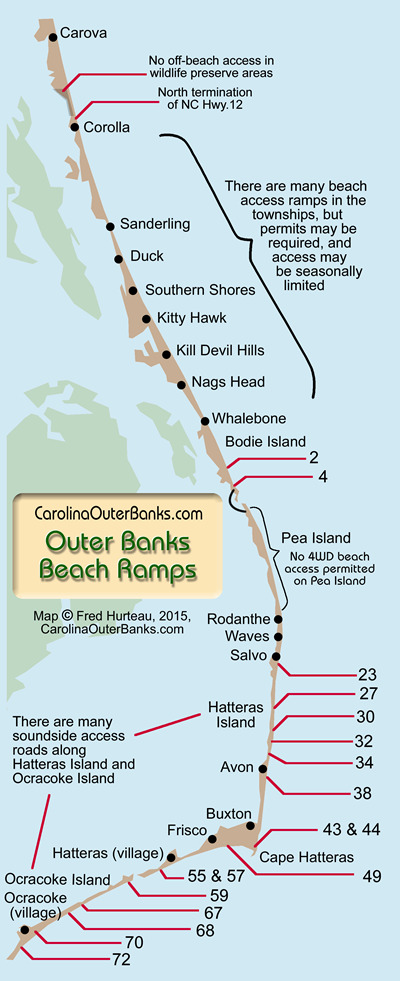 carolinaouterbanks beach ramps on the outer banks